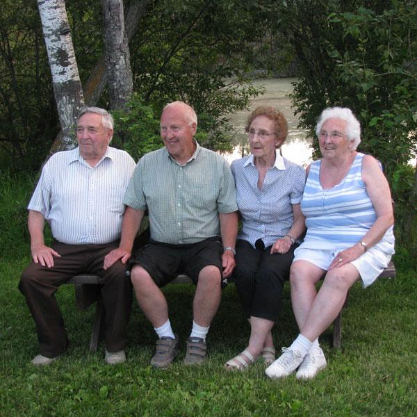 Elderly on Bench